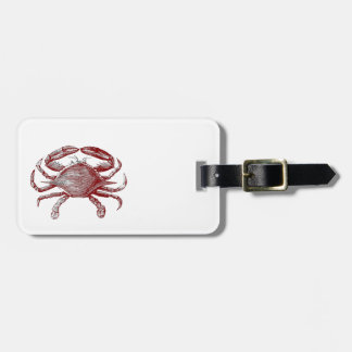 Feeling Crabby Red Pencil Crab Sketch Bag Tag