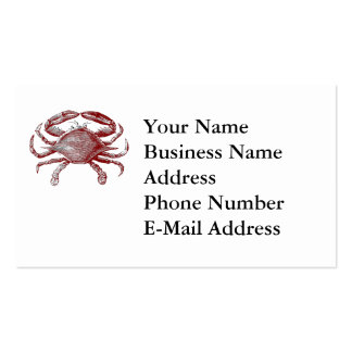 Feeling Crabby Red Pencil Crab Sketch Business Card Template