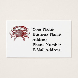 Feeling Crabby Red Pencil Crab Sketch Business Card