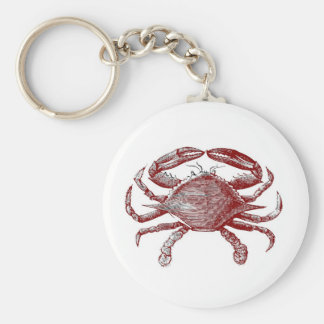 Feeling Crabby Red Pencil Crab Sketch Keychain