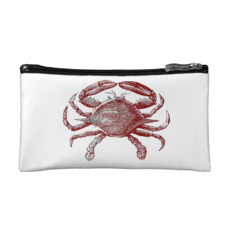 Feeling Crabby Red Pencil Crab Sketch Makeup Bag