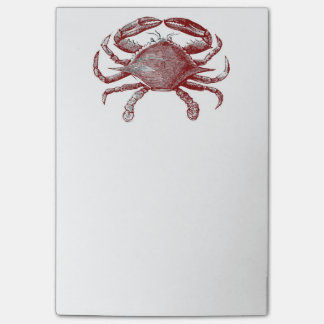 Feeling Crabby Red Pencil Crab Sketch Post-it Notes