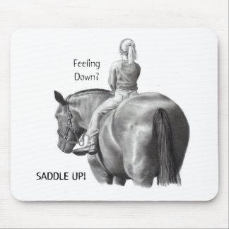 FEELING DOWN? SADDLE UP! PENCIL HORSE ART MOUSEPADS