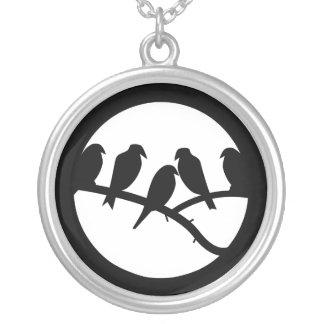 Feeling Flighty Round Pendant Necklace