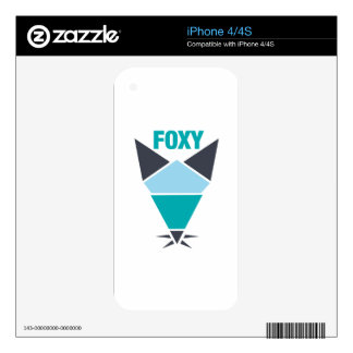 Feeling Foxy - Abstract Skins For iPhone 4S