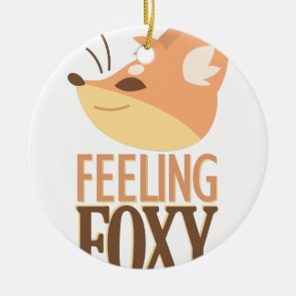 Feeling Foxy Ceramic Ornament