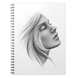 Feeling Free Spiritual Girl Notebook