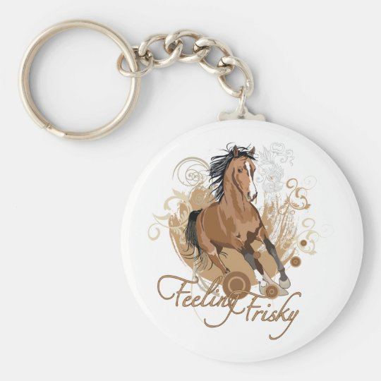 Feeling Frisky Classic Button Keychain