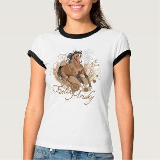 Feeling Frisky Ladies Ringer T-Shirt