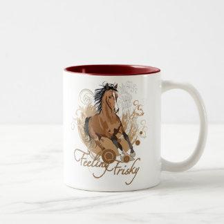 Feeling Frisky Two-Tone Mug Mug