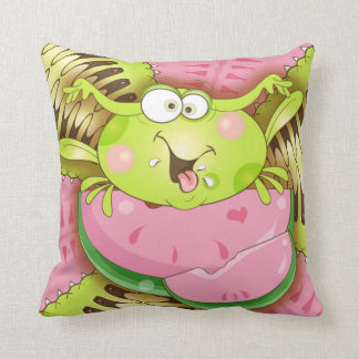 Feeling Froggy Throw Pillow