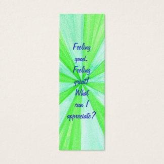 Feeling good. Feeling great! Affirmation bookmarks Mini Business Card