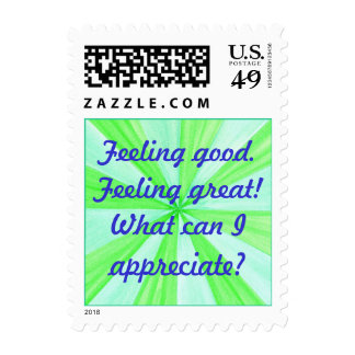 Feeling good, feeling great, affirmation stamps