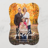 Feeling Grateful Thanksgiving Photo Card