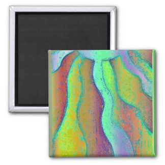 feeling green 2 inch square magnet