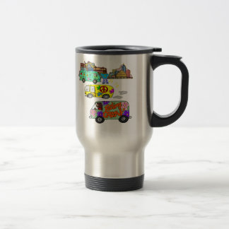 Feeling Groovy Baby Boomer 15 Oz Stainless Steel Travel Mug