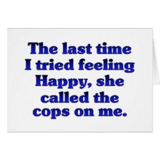Feeling Happy (Female) Card