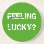 FEELING LUCKY? BEVERAGE COASTER