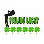 Feeling Lucky Irish Women's Gift Post Cards