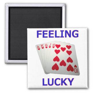 Feeling Lucky Royal Flush Poker Hand Magnet