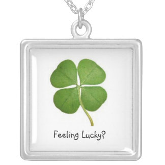 Feeling Lucky? Silver Plated Necklace