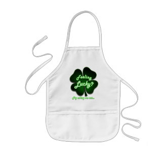 Feeling Lucky? Try asking me out Kids' Apron