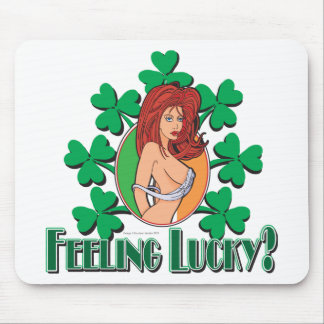 Feeling Lucy Girl Mouse Pad
