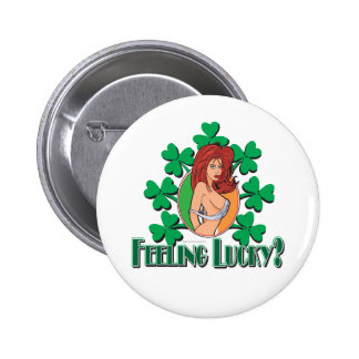 Feeling Lucy Girl Pinback Button