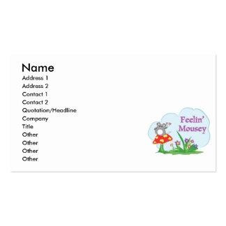 feeling mousey adorable mouse in garden business card