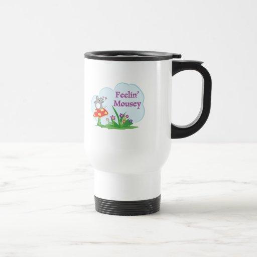 feeling mousey adorable mouse in garden mug