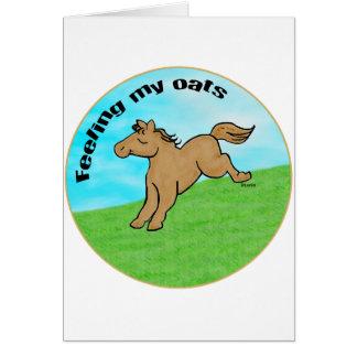 Feeling My Oats Card