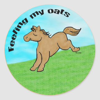 Feeling My Oats Classic Round Sticker