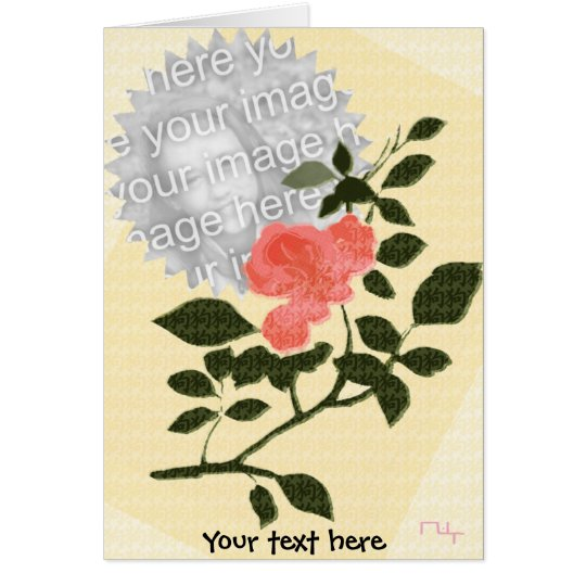 Feeling of a flower  card