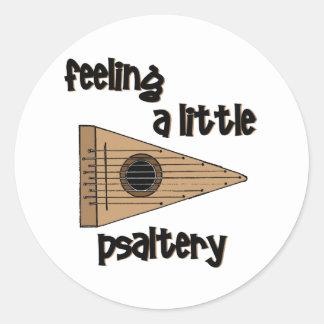 Feeling Psaltery Classic Round Sticker