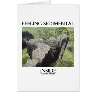 Feeling Sedimental Inside Limestone Geology Humor Greeting Card