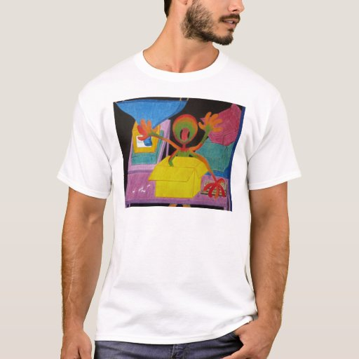 Feeling Series - Rushed - Coloered Pencil on Cold T-Shirt
