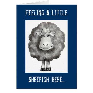FEELING SHEEPISH APOLOGY CARD