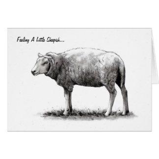 Feeling Sheepish Sheep in Pencil Apology Card