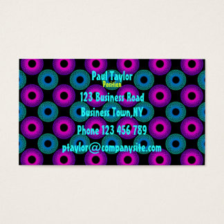 Feeling Sixties Pychedelic Business Card Template