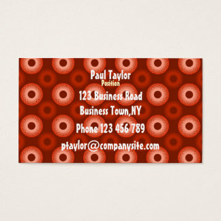 Feeling Sixties Red Business Card Template