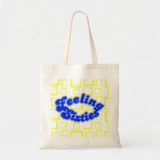 Feeling Sixties Text With Yellow Squares  Bag