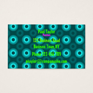 Feeling Sixties Turquoise Business Card Template