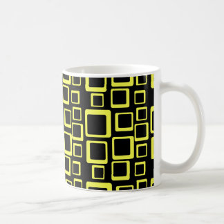 Feeling Sixties Yellow Squares Mug