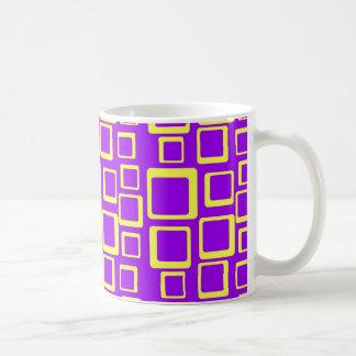Feeling Sixties Yellow Squares On Purple Mug