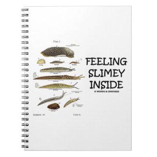 Feeling Slimey Inside (Slugs) Spiral Note Books