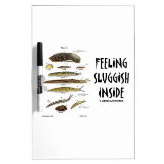 Feeling Sluggish Inside (Slugs Naturalist) Dry Erase Whiteboards
