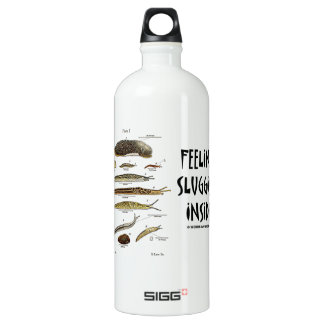 Feeling Sluggish Inside (Slugs Naturalist) Water Bottle