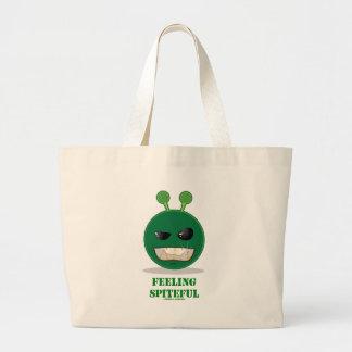 Feeling Spiteful (Green Alien Expression) Canvas Bag