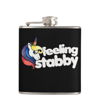 feeling stabby unicorn flask