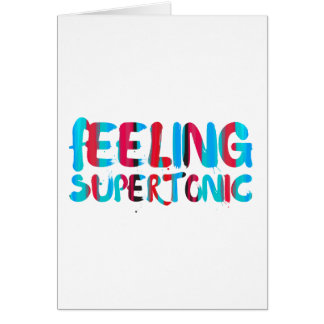 Feeling supertonic music theory geek pun card